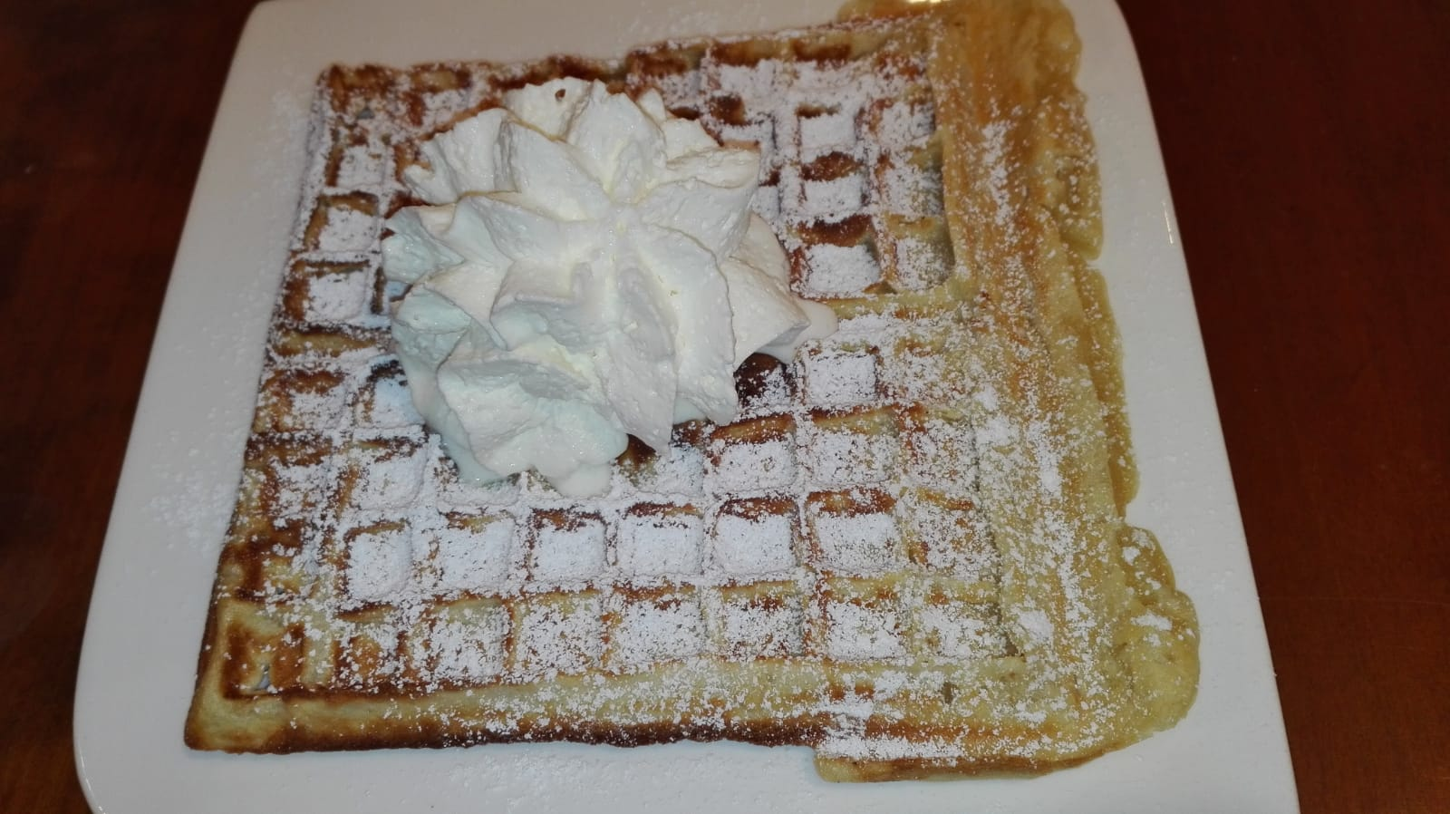 Eggnog Waffles with Cinnamon Syrup Recipe